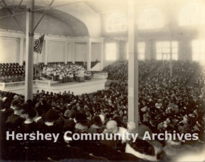 Sistine Chapel Choir (?) performance at the Convention Hall during their first American tour, October 21, 1923.