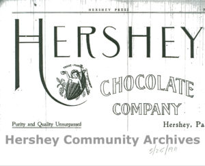 Advertisement in the Hershey Press featuring the trademark, 1911