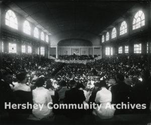 Convention Hall, interior; Church of the Brethren Convention, June 1921