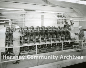 "An example of a ""Carver"" press, ca. 1950-1960"
