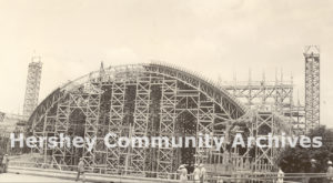 The structure was built in five sections. Each section's concrete pour lasted 14-20 days, working 24 hours a day. June 15, 1936