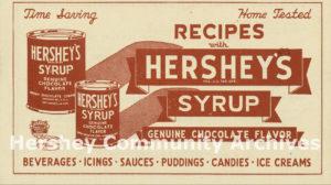 Hershey's Syrup recipe pamphlet, 1936