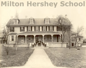 The first boys on the steps of the Homestead, 1911