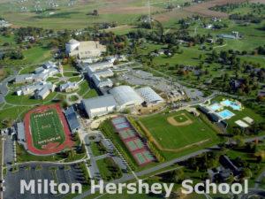 Aerial view of Milton Hershey School campus, 2006
